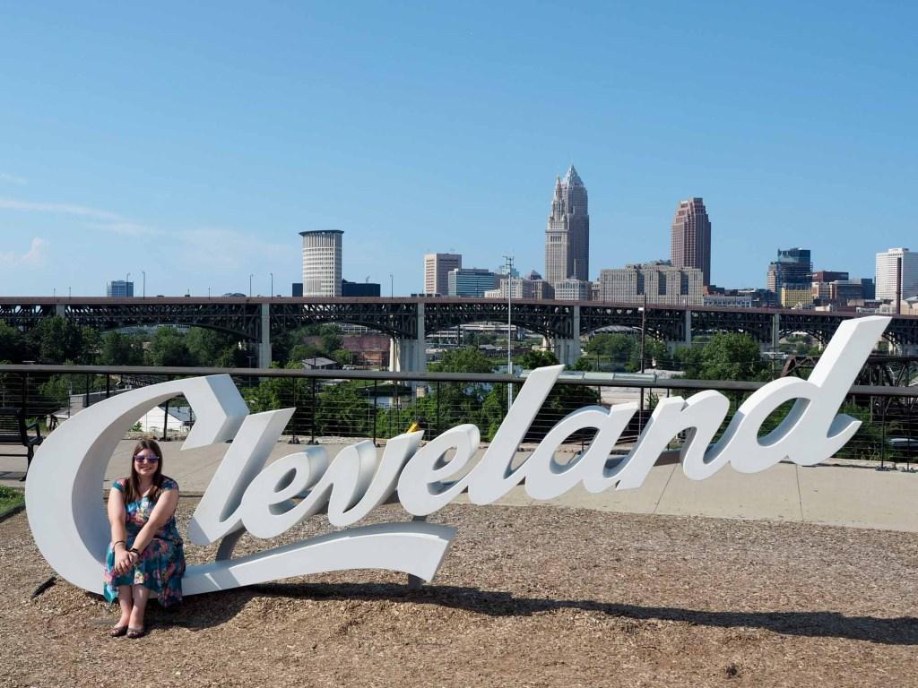 Cleveland script sign in Tremont