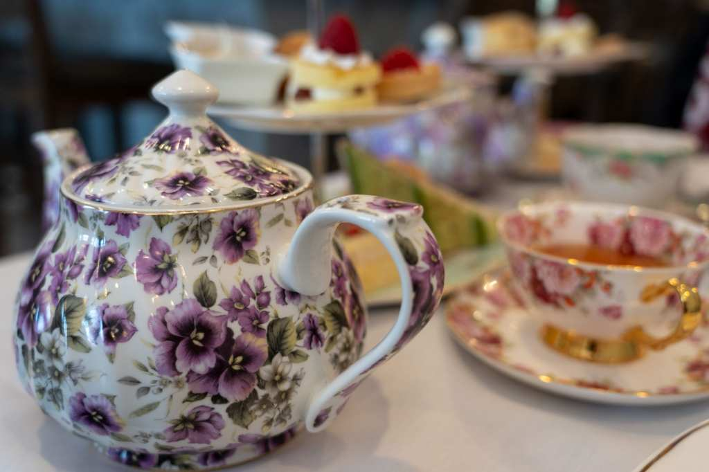 Macaron Tea Room teapot