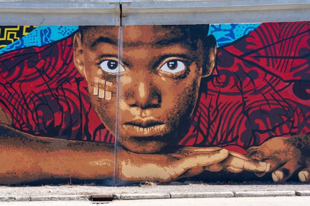 Shoreway mural in Cleveland