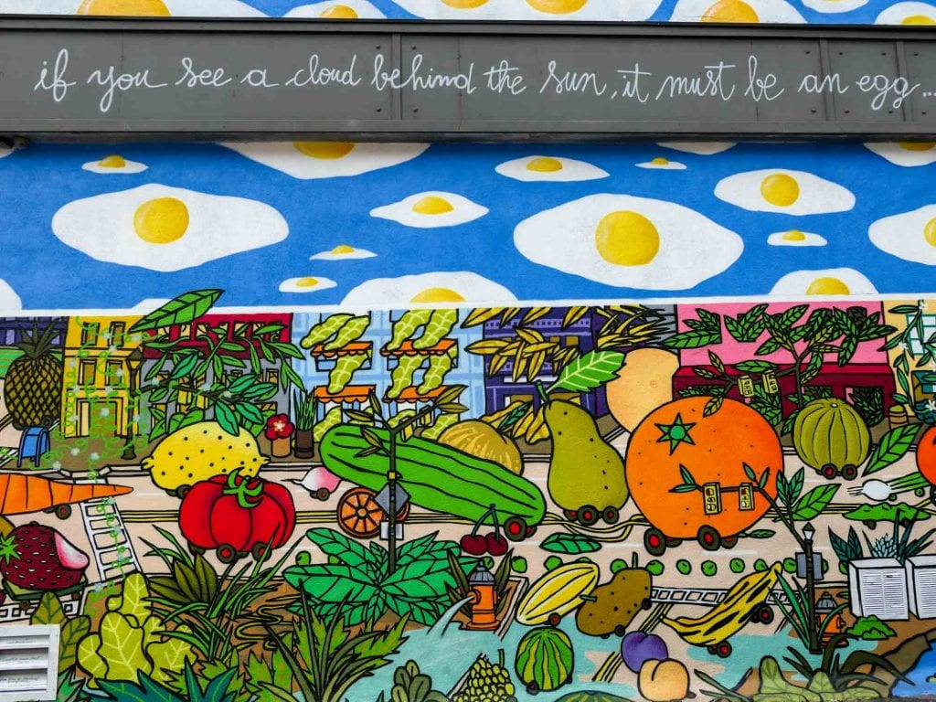 Ohio City fried egg mural