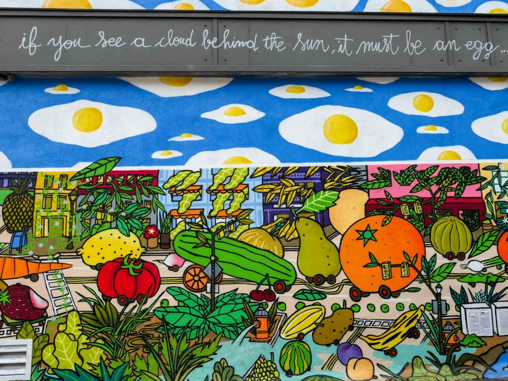 Ohio City fried egg mural