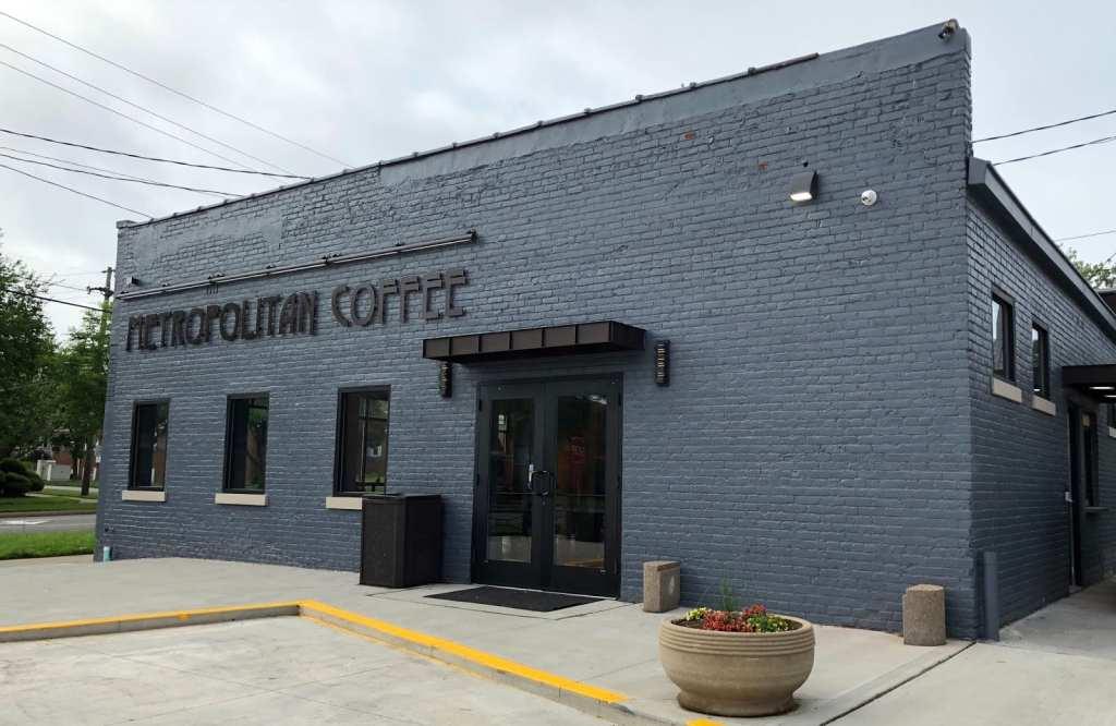 Outside of Metropolitan Coffee in Cleveland