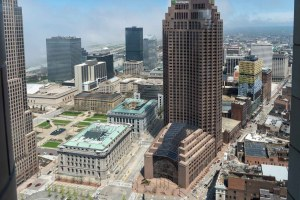 View of downtown Cleveland from Terminal Tower