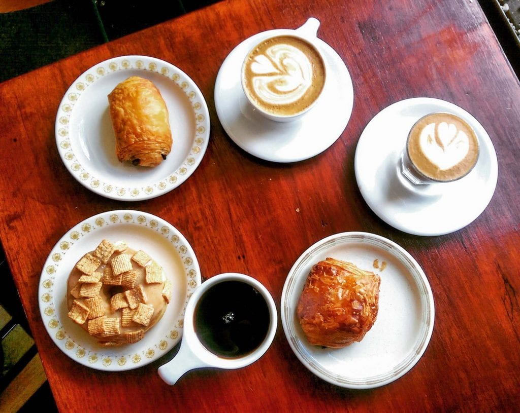 Coffee and pastries from Phoenix Coffee Co