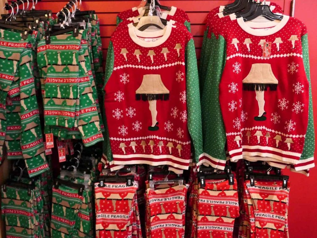 Leg lamp Christmas sweaters