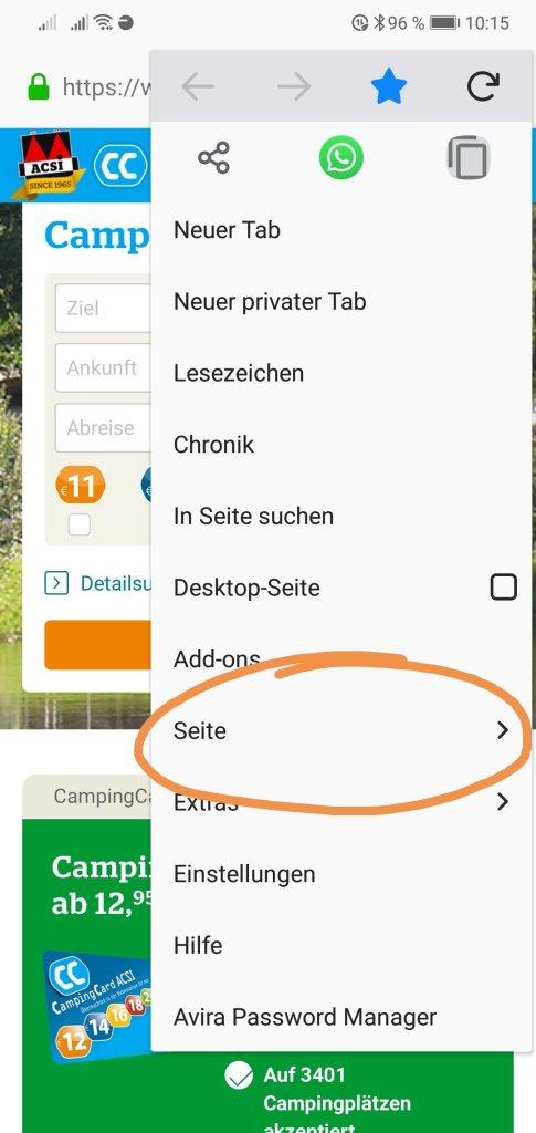Verknüpfung Startbildschirm hinzufügen Firefox
