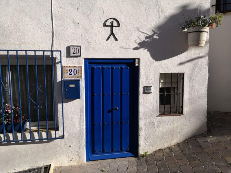 In Mojácar Pueblo, Haus mit Indalo
