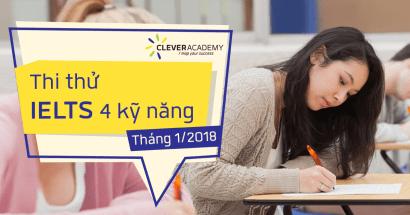 Thi thử IELTS 4 kỹ năng - Đánh giá trình độ Anh ngữ nhanh nhất!