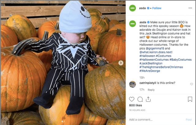 halloween marketing on instagram idea
