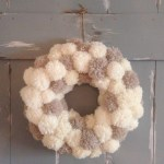 Anthropologie Inspired Wool Pom Pom Wreath Clever Bloom