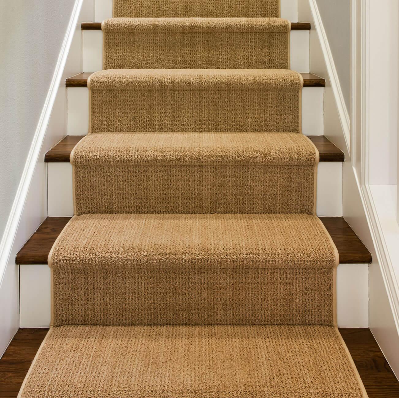 Sisal Stair Carpet Runner Landing Striped Stair Capet