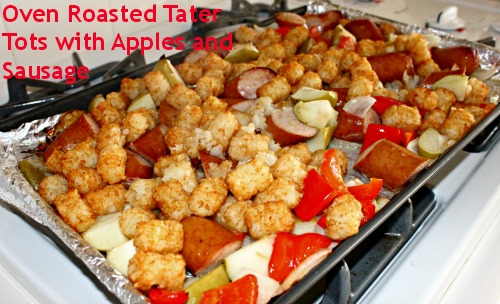 Oven Roasted Tater Tots With Apples And Sausage OreIdaDinner