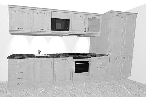 unterschrank k che 50 x 60 k che kreta 280cm t ohne e. Black Bedroom Furniture Sets. Home Design Ideas