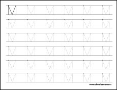 Letter M Writing And Coloring Sheet