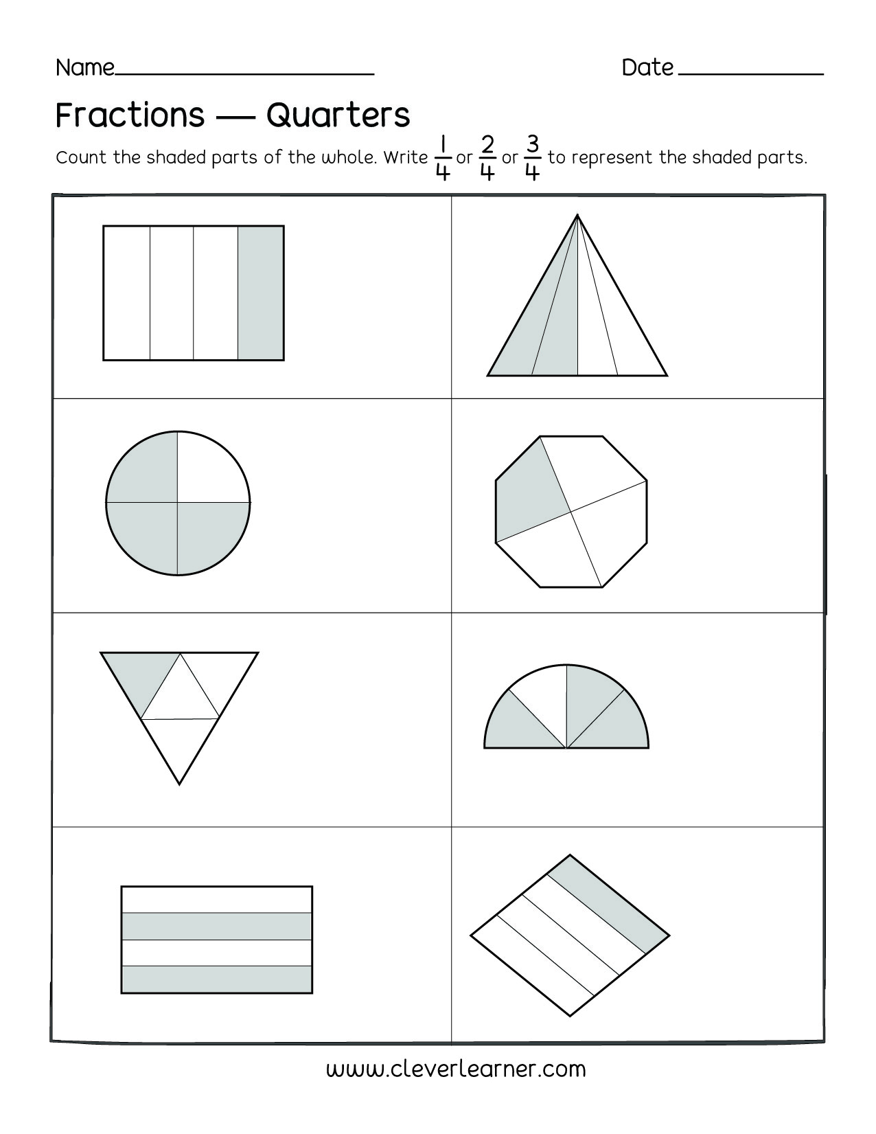 Fractions Worksheet More Or Less