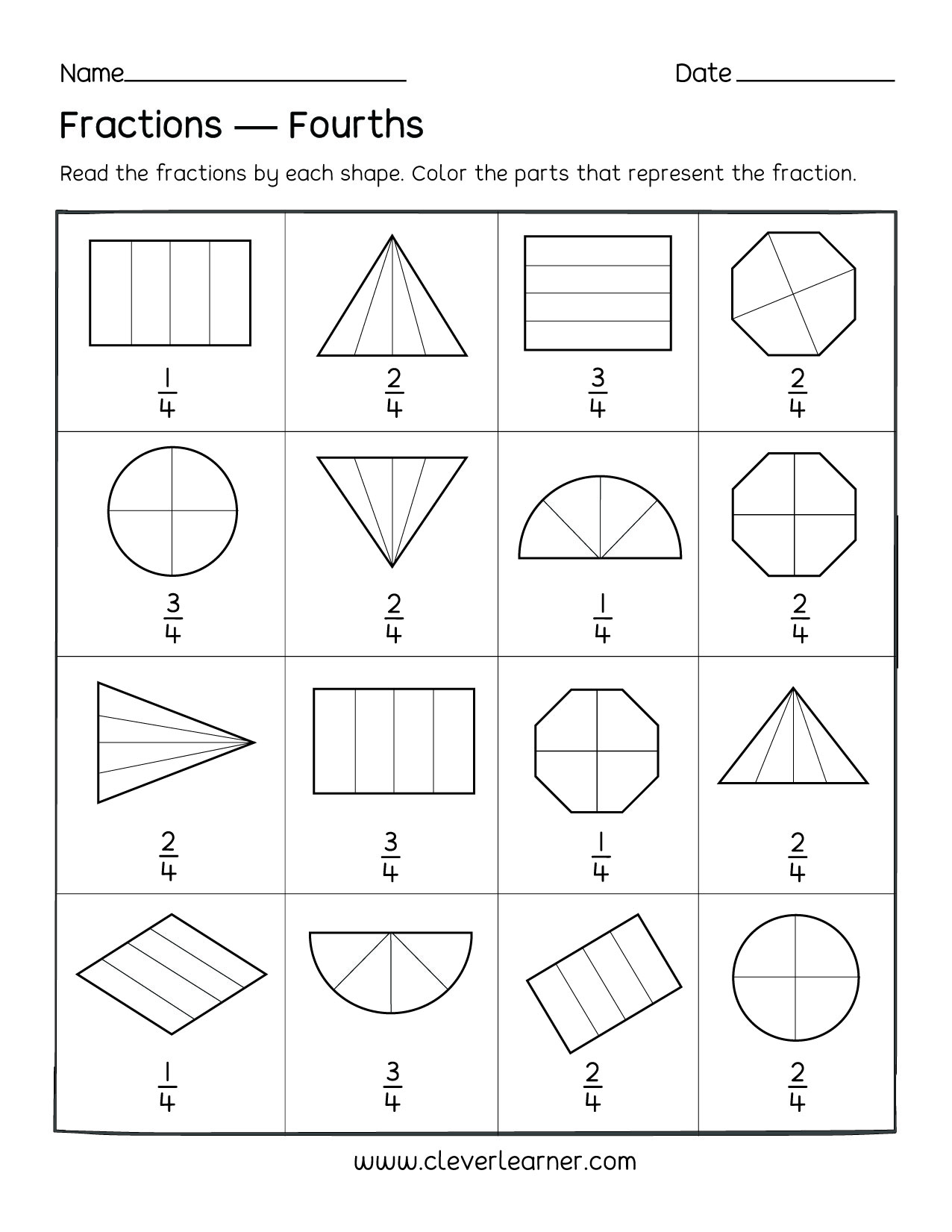 Kindergarten Half Worksheets