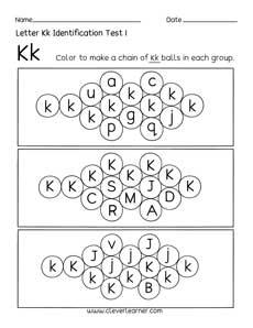 Fun Letter K Identification Activity