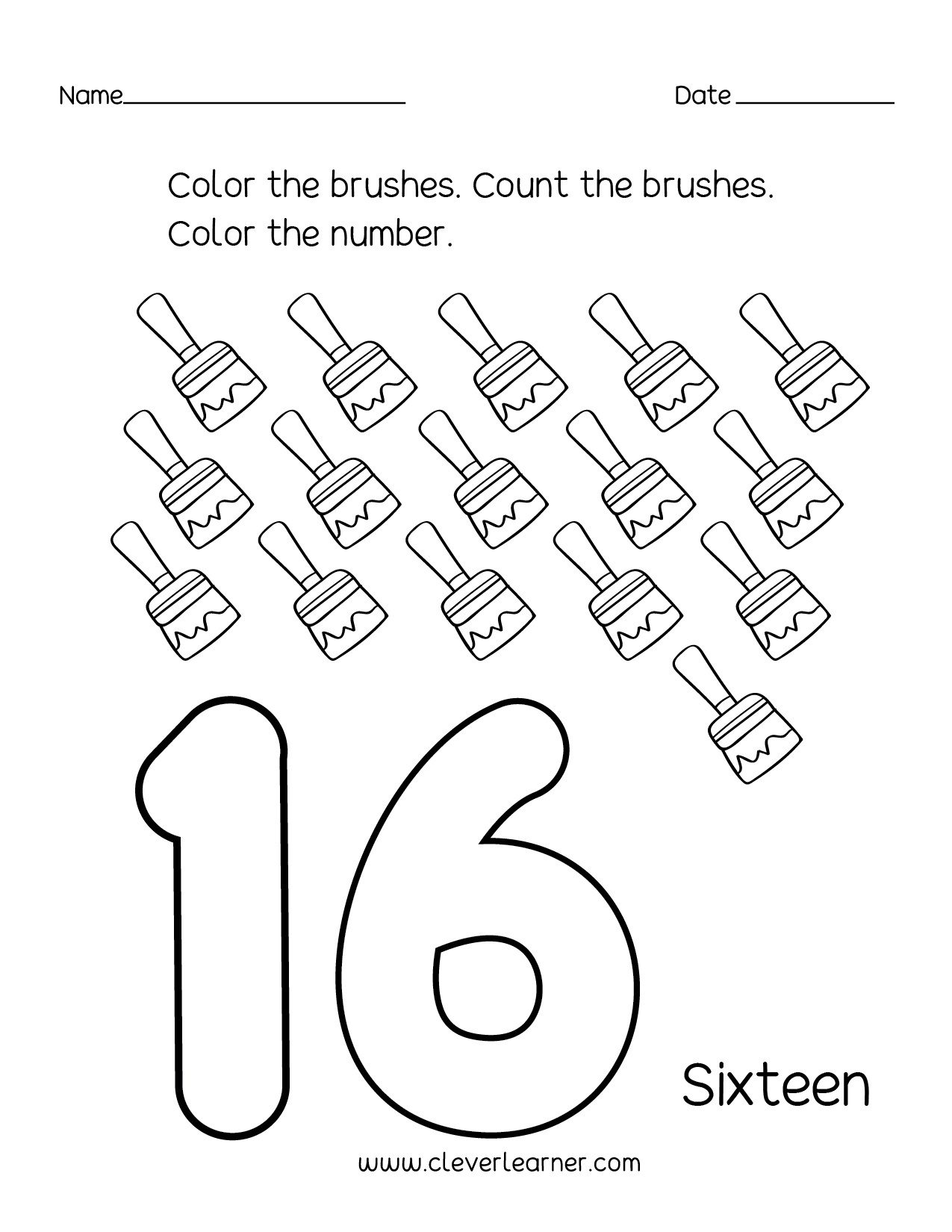 Kindergartern Number 18 Worksheet