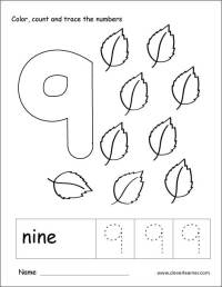 Number Kindergarten For 9 Worksheets. Number. Best Free