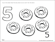 Number five writing, counting and recognition activities