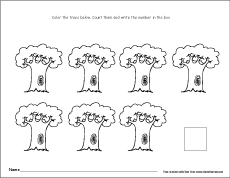 Number seven writing, counting and recognition activities