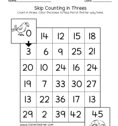 Skipping numbers activities and worksheets for kindergarten and first grade [ 1651 x 1276 Pixel ]