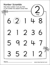 Preschool Worksheet Number Two. Preschool. Best Free ...