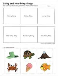 Living Nonliving Things Worksheets Preschool. Living. Best