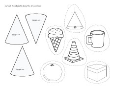 Free cone worksheets for kindergartens
