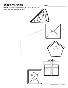Free Square Shape Activity Sheets For School Children