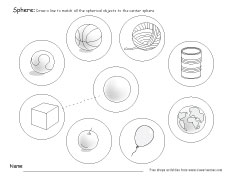 What is a sphere? Free sphere worksheets for kindergarten