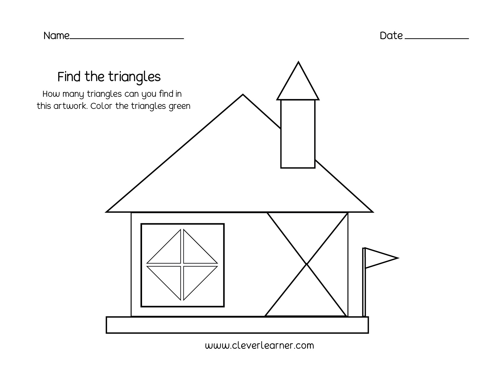 Printable Triangle Shapes Worksheets