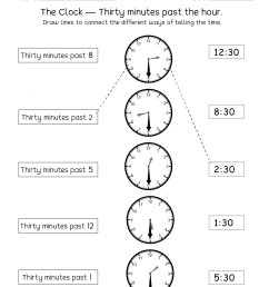 Telling Time Half Hour Worksheets   Printable Worksheets and Activities for  Teachers [ 1650 x 1276 Pixel ]