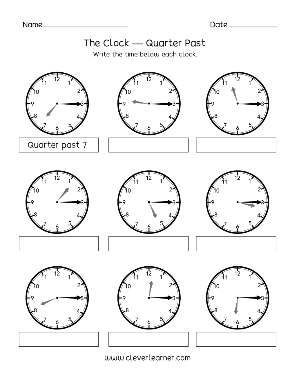 medium resolution of Telling time