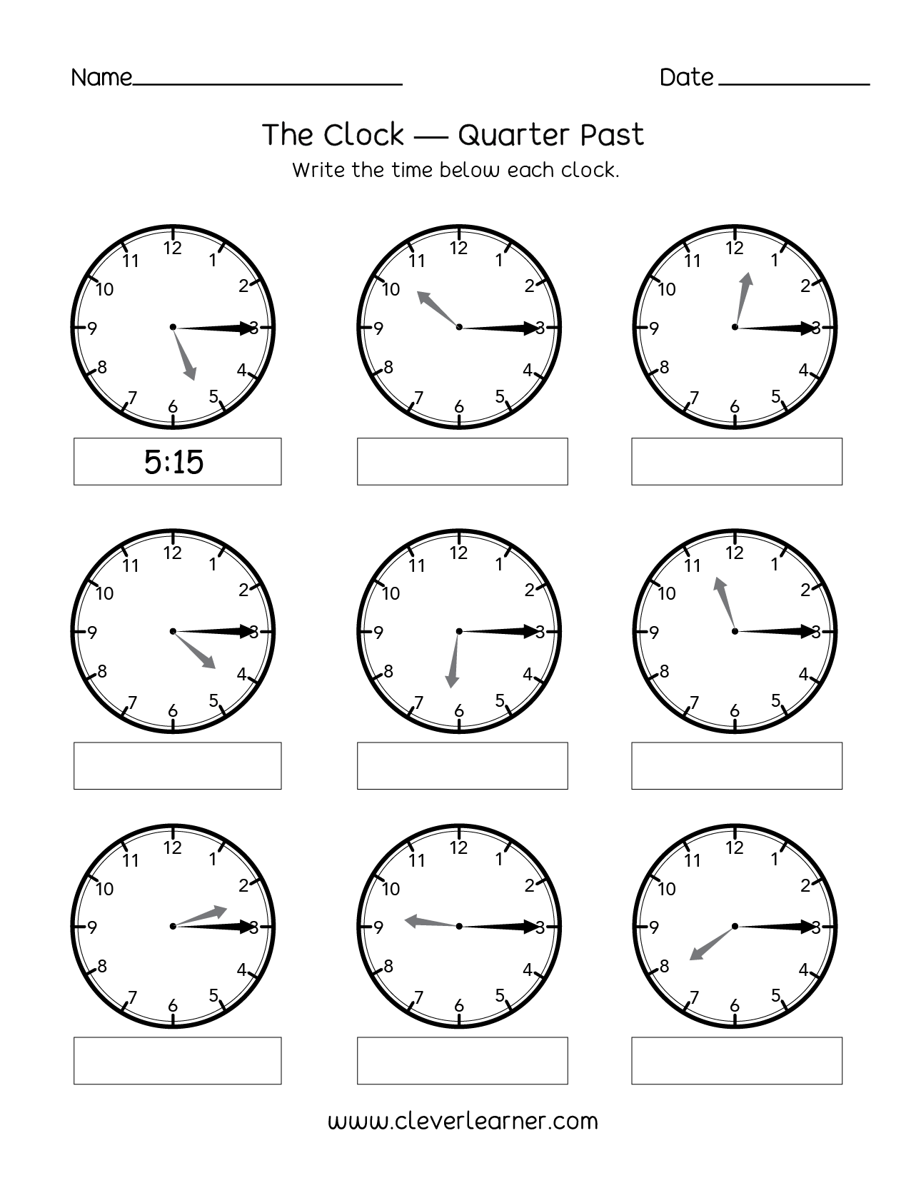Telling Time Past The Hour Worksheets Onogue Telling