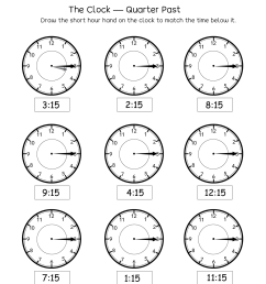 Easy Clock Worksheets   Printable Worksheets and Activities for Teachers [ 1650 x 1276 Pixel ]