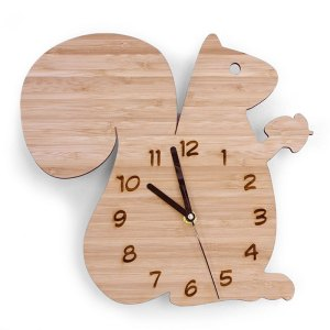 Bamboo Clock - Squirrel