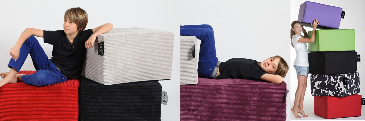 Bloc Kids ottoman and fold-out bed