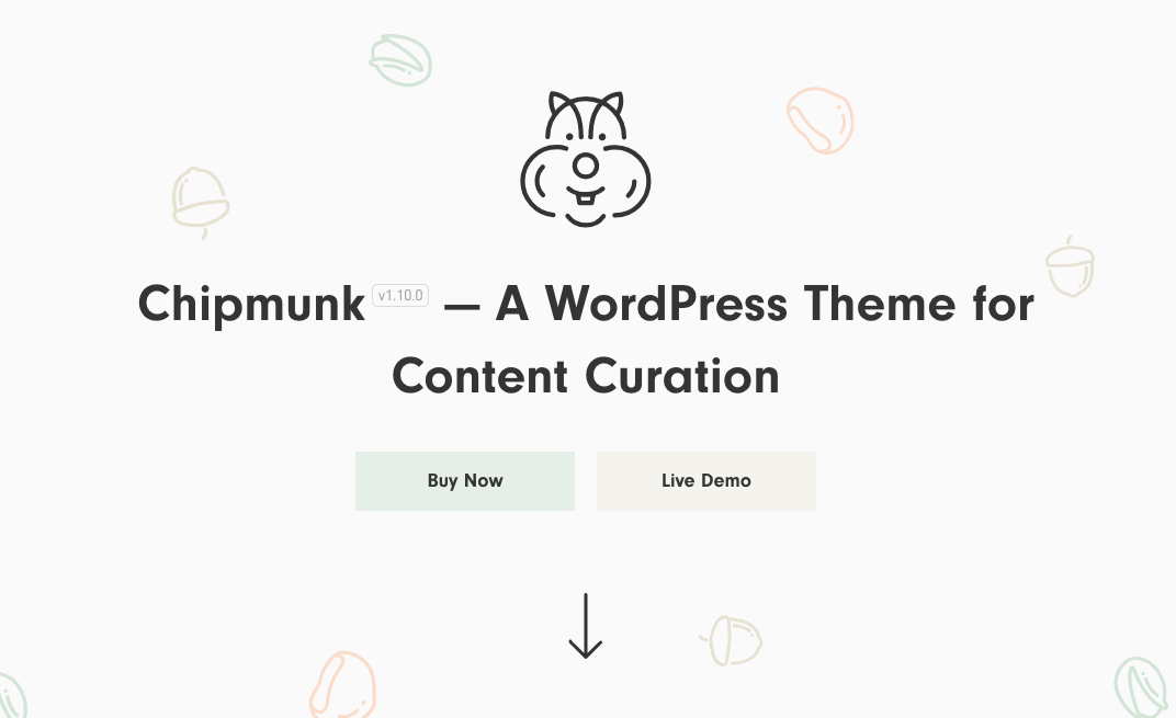 curation wordpress theme - chipmunk