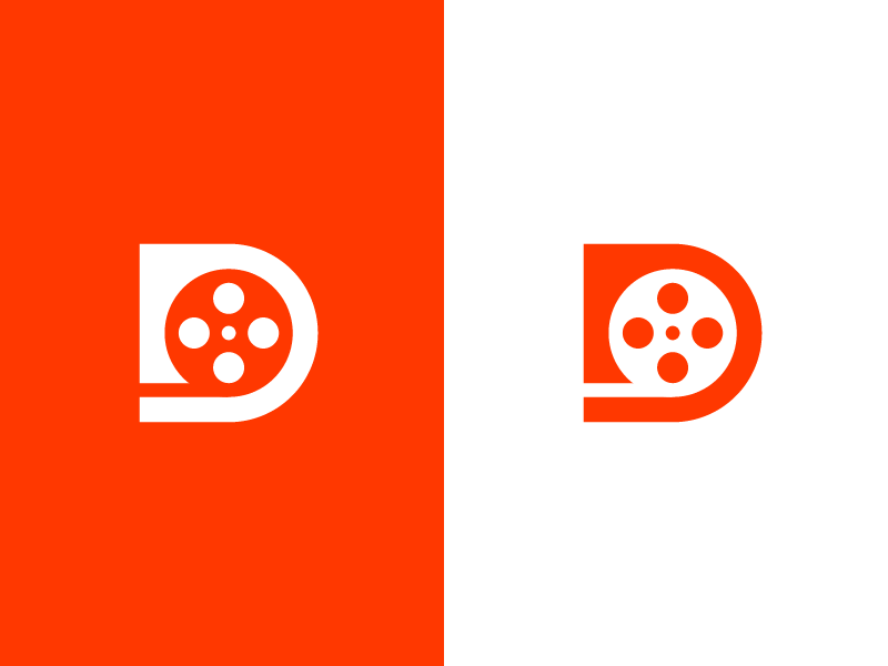 d-film logo design by Deividas Bielskis