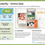 Shutterfly Groupon – $40 for 40 5″x7″ Personalized Holiday Photo Cards ($83.60 Value)