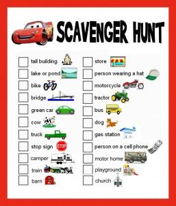 Fun Family Activity - a scavenger hunt