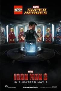 Iron Man 3 In Theaters May 3rd Lego Poster