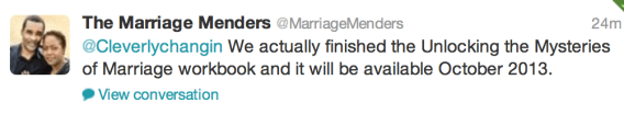Marriage Menders on Twitter