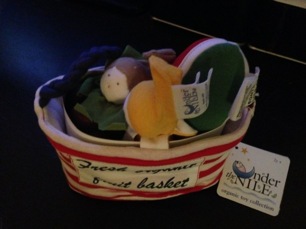 Uncommon Goods unique gifts Organic Fruit Basket for infants