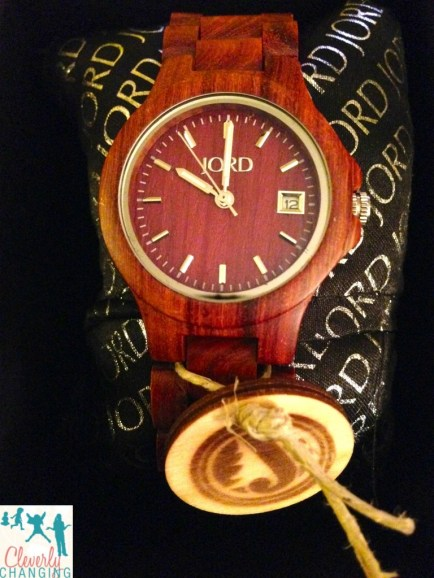JORD Cherry Ely Wood Watch