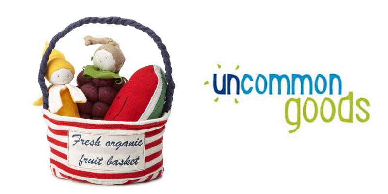 Uncommon Goods Fresh Organic fruit basket