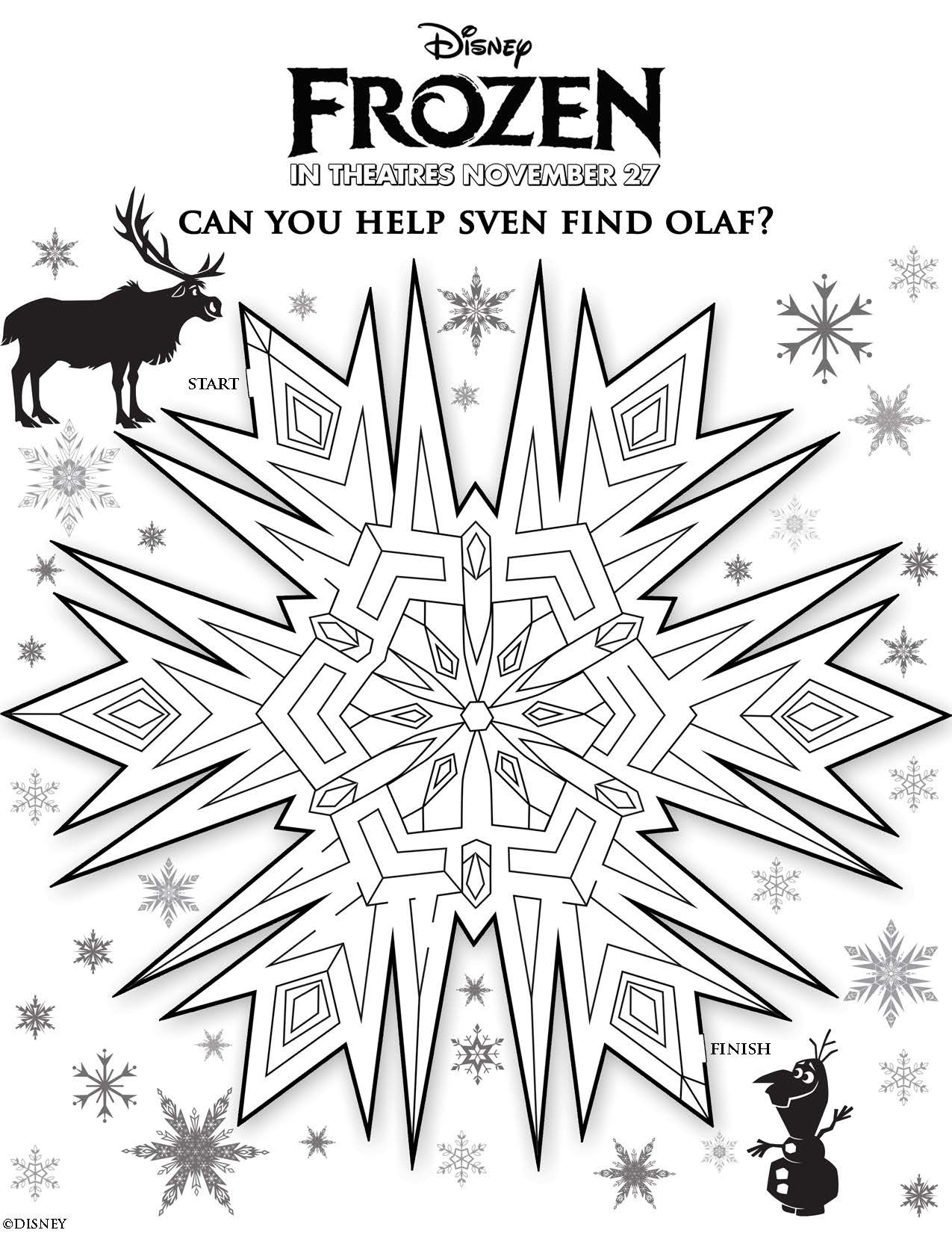 Disney S Frozen Activity Pages