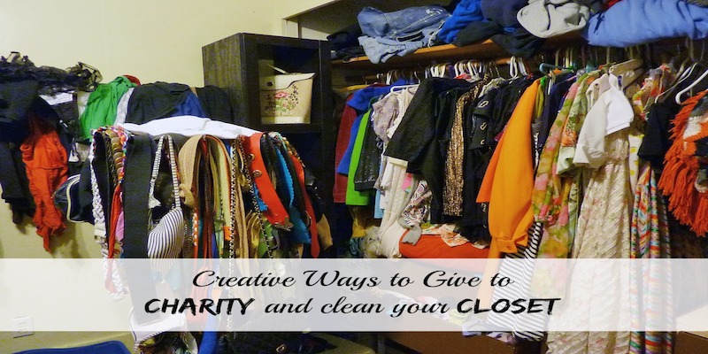 Creative ways to give to charity and clean your closet