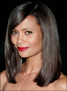 Thandie Newton looks fabulous in her long bob.